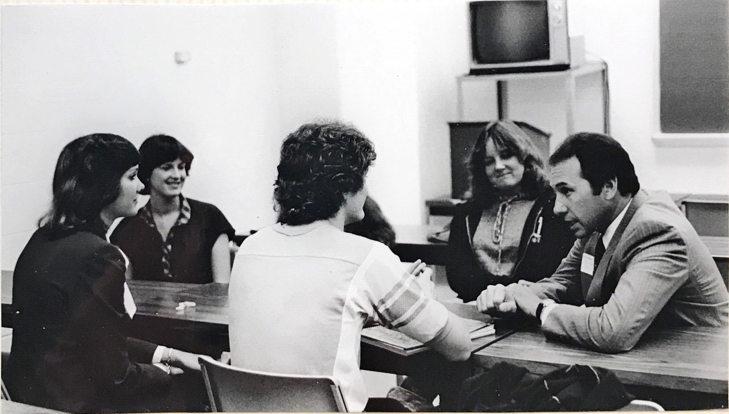Meet the Firms event at Bowling Green State University in 1980